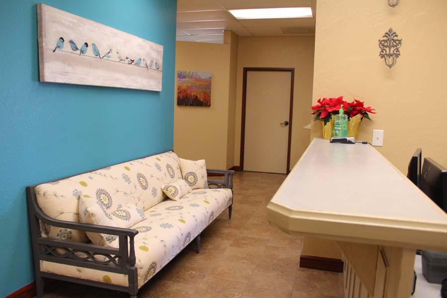 Nicoma Park Dental blue hallway
